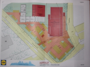 So sieht der Plan des Projektentwicklers und Lidl aus.
